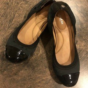 Coach Womens Patent Leather Ballet Flats Black